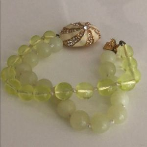 JCrew double bracelet with jeweled shell detail